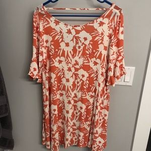 O'Neill Orange and White Floral Dress
